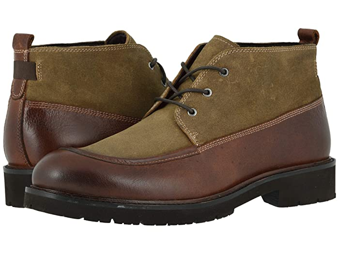 Johnston and Murphy  Sanders Chukka (Whiskey Full Grain/Tan Oiled Suede) Mens Boots