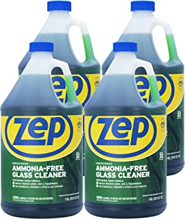 Zep Ammonia Free Glass Cleaner Concentrate 128 Ounce ZU1052 (Case of 4)