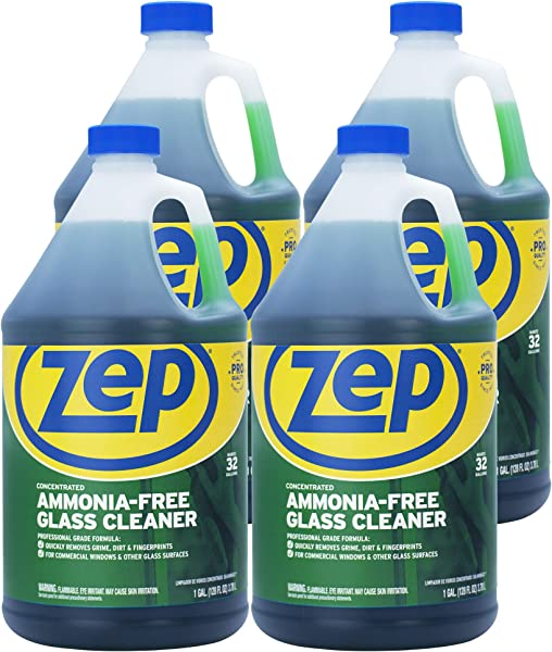 Zep Ammonia Free Glass Cleaner Concentrate 128 Ounce ZU1052 Case Of 4