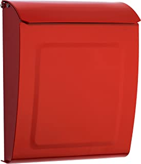 Architectural Mailboxes 2594R Red Aspen Locking Wall Mount Mailbox, Small