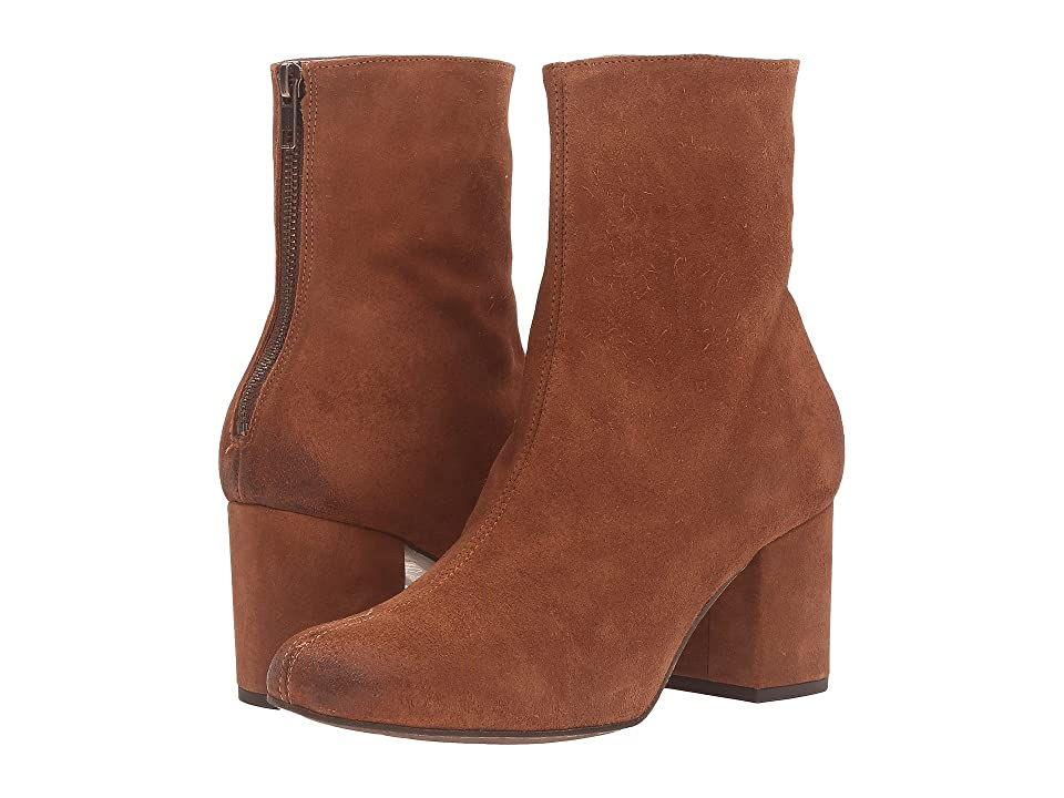Retro Boots, Granny Boots, 70s Boots Free People Cecile Ankle Boot Brown Womens Pull-on Boots $168.00 AT vintagedancer.com