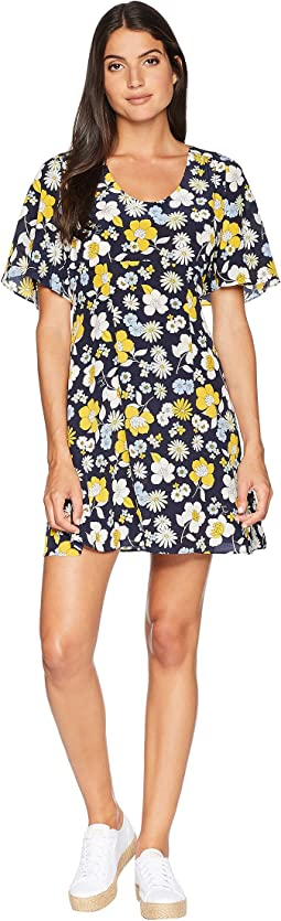 Silk Garden Floral Flirty Dress