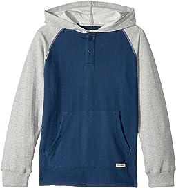 Lucky Brand Kids - Long Sleeve Raglan Pullover Hoodie (Big Kids)