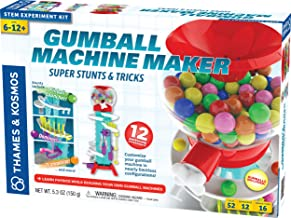 Thames & Kosmos Gumball Machine Maker Lab - Super Stunts & Tricks Science Kit, Build Your Own Gumball Machines with Lessons in Physics & Engineering | 12 Experiments | Includes Delicious Gumballs