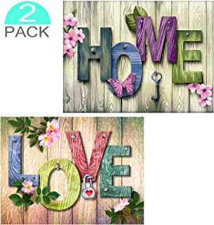 2 Pack DIY 5D Diamond Painting by Number Kits, Home and Love Quote Diamond Art Cross Stitch Full Drill Crystal Rhinestone Embroidery Craft for Adult Kids