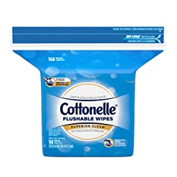 Cottonelle Flushable Wet Wipes, 168 Wipes per Pack