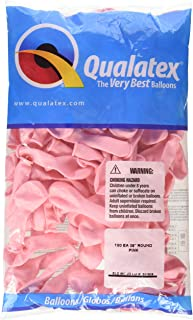 """Qualatex 43575 Pink Latex Balloons, 5"""", Pink, Pack of 100"""