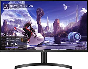 LG 32QN650-B 32-Inch QHD (2560 x 1440) IPS Monitor with HDR 10, AMD FreeSync and Dual HDMI Inputs (Height Adjustable Stand)- Black
