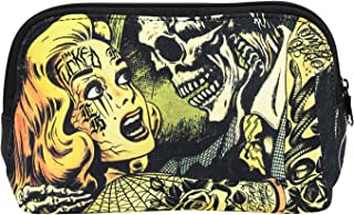 Liquorbrand Horror B Movie Cartoon Art Travel Pouch Cosmetic Bag by Liquorbrand