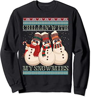 Chillin' With My Snowmies Ugly Christmas Snowman Sweater