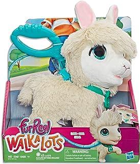 FurReal Walkalots - Big Wags White Llama Plush Pet - Interactive Toys for kids, boys, girls - Ages 4+