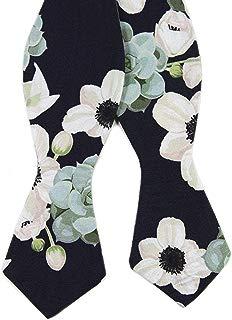 Men's Bow Tie, Floral Print Bowtie, Great for Weddings, Groom, Groomsmen, Missions, Dances, Gifts.