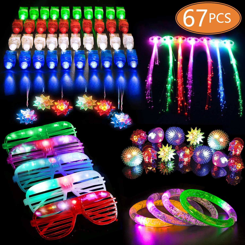 MIBOTE Supplies Flashing Bracelets Necklaces