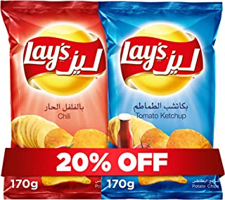 Lay's Ketchup170g + Lay's Chili 170g, Potato Chips