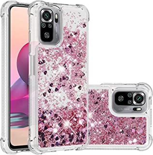 Hicaseer Case for Redmi Note 10S,Glitter Flowing Quicksand Transparent Clear Soft TPU Gel Cover Phone Case Protective Cove...
