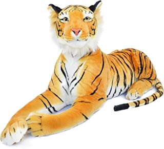 VIAHART Rohit The Orange Bengal Tiger   4 Foot Long (Tail Measurement not Included!) Big Stuffed Animal Plush Cat   Shipping from Texas   by Tiger Tale Toys