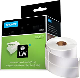 DYMO LW Mailing Address Labels, 2-up, for LabelWriter Label Printers,1 roll of 700
