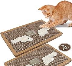 Nobleza - Rascador de cartón para Gatos. Alfombrilla con Catnip. (38.2 * 24.5 * 4) cm(2)