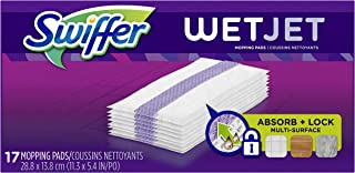 Swiffer WetJet Hardwood Floor Cleaner Spray Mop Pad Refill, Multi Surface, 17 Count (Packaging May Vary)