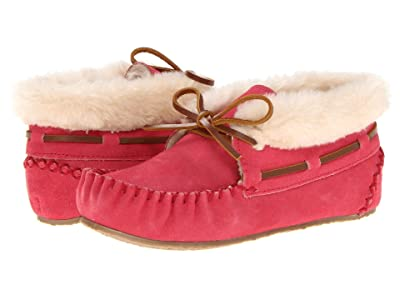 Minnetonka Kids Charley Bootie (Toddler/Little Kid/Big Kid) (Hot Pink Suede) Girl