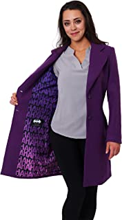 DC Comics The Joker Women's Purple Wool Peacoat