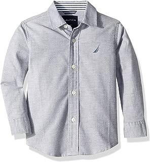 Nautica Boys' Long Sleeve Solid Woven Shirt