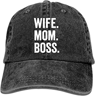 Baseball Caps for Men Women-Wife Mom Boss Sports Cap Adjustable Trucker Cowboy Hat