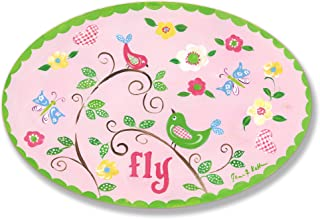 The Kids Room by Stupell Fly Birds on Branches Oval Wall Plaque