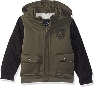 Boys' Fleece Bomber Jacket with Hood