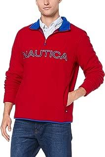 Nautica Men's 1/4 Zip Logo NAUTEX RED