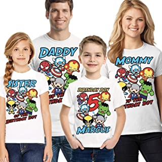 Best avengers birthday family shirts Reviews