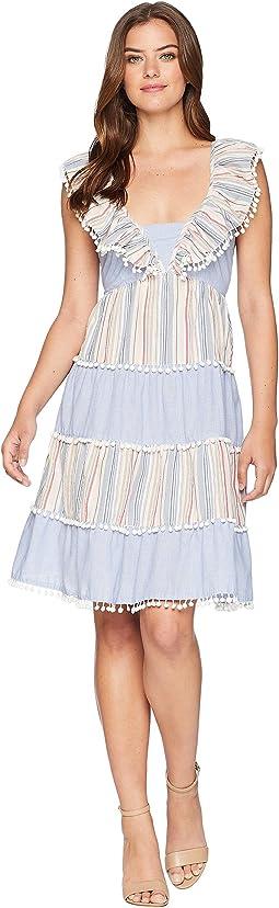Pom Pom Stripe Tier Dress