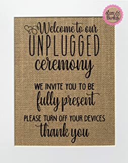 unplugged wedding poster
