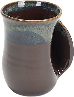 Mocha 14 Ounce Ceramic Handwarmer Coffee Mug, Right Hand