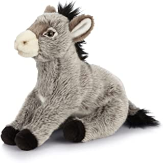 Living Nature Soft Toy - Plush Farm Animal, Donkey (22cm) - Realistic Soft Toys with Educational Fact Tags