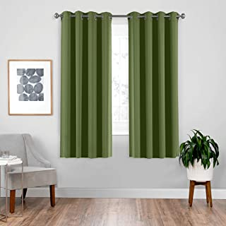 downluxe Blackout Curtain Panels - Thermal Living Room Curtains, Noise Reducing and Heat Blocking Ds for Bedroom (Set of ...