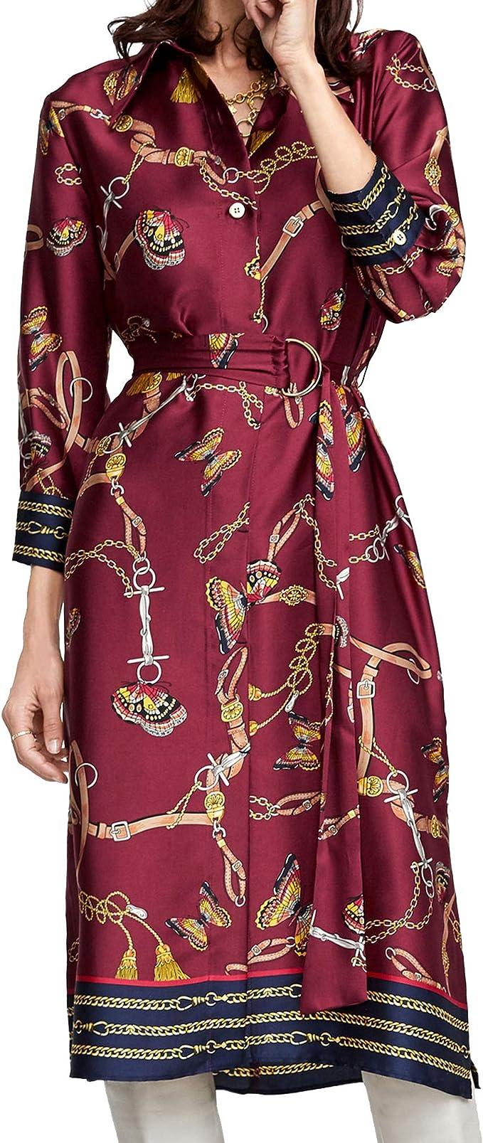 Zara Mujer Vestido Camisa con Estampado Cadenas 8127/147 ...
