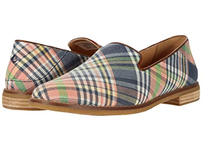 Sperry Seaport Levy Washed Plaid Loafer (Kick Back Plaid) Women