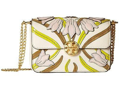 Tory Burch Chelsea Applique Mini Bag (Pink Meridian) Wallet