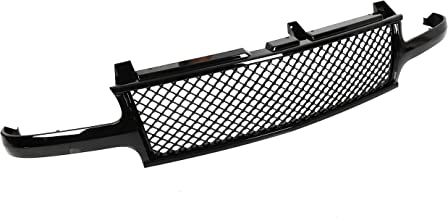 Black Mesh Front Hood Grill Grille Cover Conversion For 99-02 Chevy Silverado/00-06 Tahoe Suburban