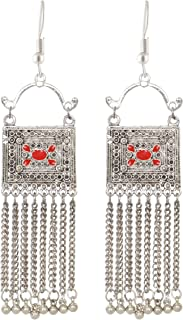 Sansar India Kuchi Afghan Indian Earrings Jewelry for Girls and Women