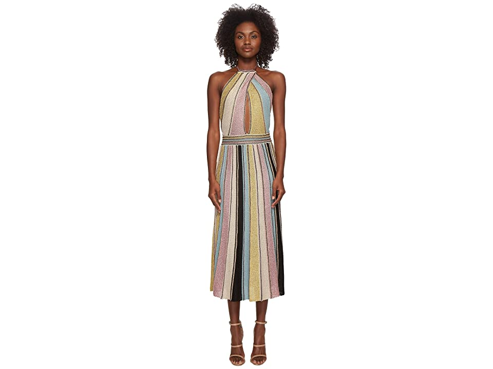 M Missoni Vertical Stripe Crochet Dress (Sea) Women
