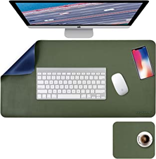 """Desk Pad, Desk Mat, Mouse Mat, XL Desk Pads Dual-Sided Blue/Green, 31.5"""" x 15.7"""" + 8""""x11"""" PU Leather Mouse Pad2 Pack Wate..."""