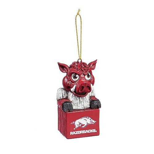Team Sports America NCAA Team Mascot Ornament - Arkansas Razorbacks Ornament: Amazon.com