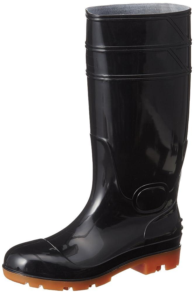 生きる自己メンター安全長靴 先芯入り PVC耐油 セーフティーブーツ インソール入り HG-2801 メンズ
