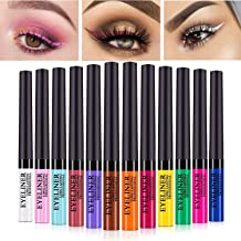 Matte Liquid Eyeliner 12 Pieces 12 Colors Professional Bright-colored Long Lasting Waterproof Eyeliner Eye Liner Pen Set, Best Liquid Eyeliner for women girl (12 Pcs)
