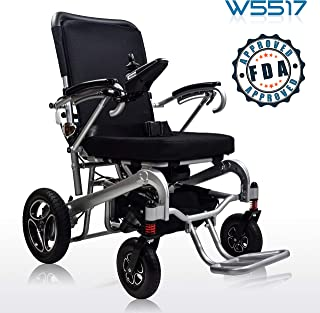 2019 INNUOVO Heavy Duty Electric Powered Wheelchair, Supports up to 330lb, Remote Control Folding