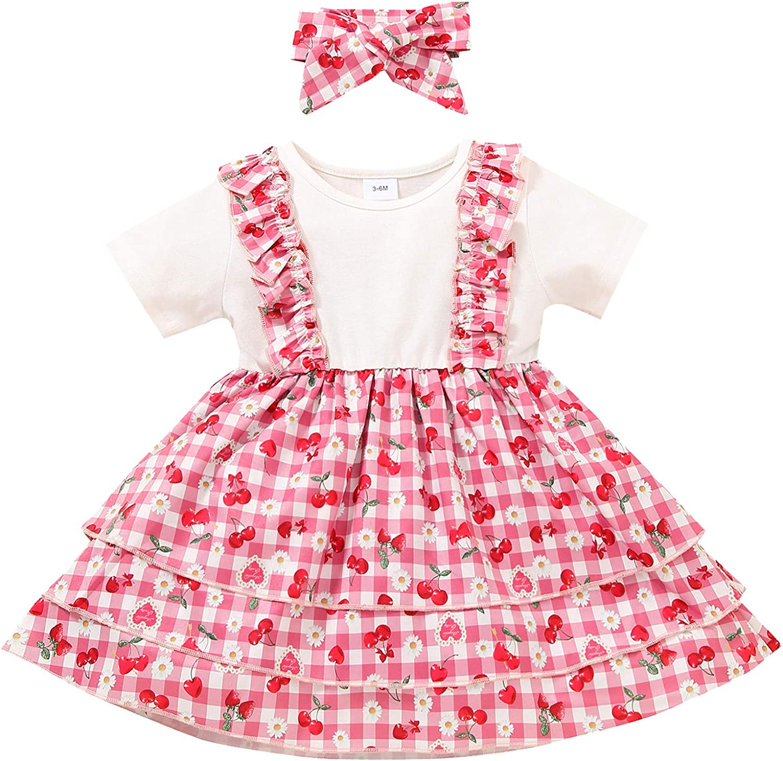 ZOELNIC Toddler Max 48% OFF Baby Girl Princess Ruffle Sleeve Dress Shi Short Gifts