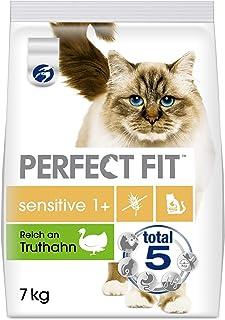 Perfect Fit Sensitive 1+ – Trockenfutter für erwachsene, sensible Katzen ab 1 Jahr – Ohne Weizen und Soja – Unterstützt di...