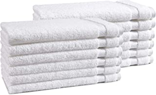 Haven Cotton 100% Premium Cotton Hand Towel Set - Pack of 12, 16 x 28 Inches, 550 GSM, White